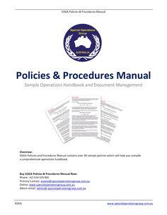 soga policies procedures manual software sample by wayne carney via slideshare