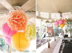 creative DIY backyard engagement party