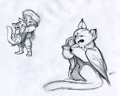 Owl Griffin Role Reversal by RobtheDoodler.deviantart.com on @deviantART