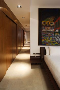 Panelled corridor  Residencia MB2 by LeNoir & Asoc. | HomeDSGN, a daily source for inspiration and fresh ideas on interior design and home decoration.