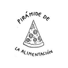 Pirámide de alimentación.  Por @caramelo.dementa  #pelaeldiente
