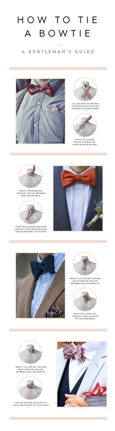 Finally something for the gentlemen - how to tie a bow tie. The perfect guide. #weddingknowhow #howtotiebowtie #weddinghowto