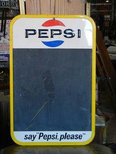 Vintage advertising chalkboard from Pepsi