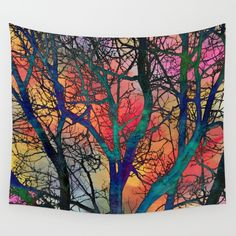 Dreamy Sunset Wall Tapestry
