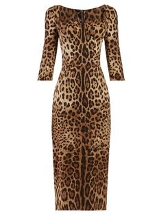 1371ae60ae DOLCE   GABBANA DOLCE   GABBANA - LEOPARD PRINT DRESS - WOMENS - LEOPARD.   dolcegabbana  cloth
