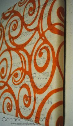 Fabric Wrapped Canva