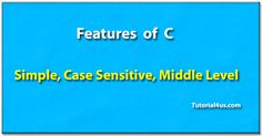 Features of C