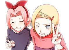 Kid Sakura and Ino #Bestfriends