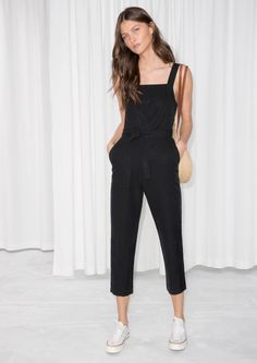 & Other Stories image 2 of Belted Overall Jumpsuit in Black