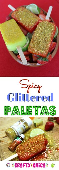 Spicy & Glittered Paletas - The Crafty Chica Dollar Store Crafts, Crafts To Sell, Crafts For Kids, Glitter Crafts, Edible Glitter, Mason Jar Crafts, Mason Jar Diy, Trending Crafts, Diy Outdoor Weddings