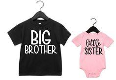 Big Brother Little Sister-Big Brother Little Sister Shirts-Little Sister Shirts- Big Brother Little Sister Shirts- New Big brother- New baby sister Little Sister Pictures, Big Brother Little Sister, Baby Sister, Little Sisters, Sibling Shirts, Sister Shirts, Vinyl Shirts, Emerson, Drake