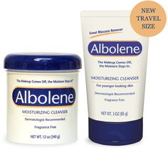 Albolene Moisturizing Cleanser tried, tested and proven for years,  is phenomenal when it comes to taking off your makeup and hydrating your skin at the same time.