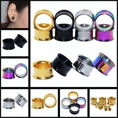 Orecchio di Espansione Monili Penetranti Del Corpo Doppio Chiarore Hollow Body Piercing Trendy Ear Expander Plug Tunnel Calibri Orecchio Gioielli