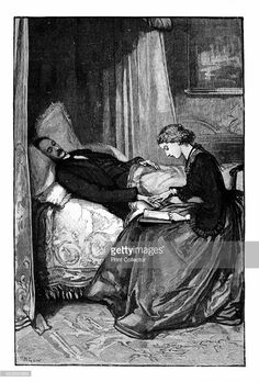 Princess Alice reading to Prince Albert on his deathbed