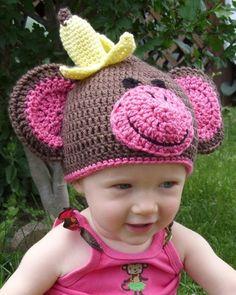 Messy Monkey Beanie Pattern. - via @Craftsy  So stinking cute!
