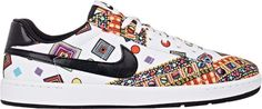 "Nike Tennis Classic Ultra Liberty QS Sneakers-White  $115 by Nike at Barneys New York          Available Colors: White Available Sizes: 6,6.5,7.5,8,9.5 DETAILS Nike x Liberty's Tennis Classic Ultra QS low-top sneakers are crafted of white and multicolored nylon printed with Liberty's signature Merlin motif. 1""/25mm midsole (approximately). Rounded toe, logo tab at lightly padded tongue, faux leather signature N"