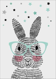 Art Room Britt: Rabbit Illustration Using Line Rabbit Illustration, Illustration Art, Lapin Art, Illustration Mignonne, Bunny Art, Nursery Art, Art Education, Illustrators, Art For Kids