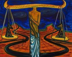 / Golden Balancer II - 1997 - cm - olaj, farost/ oil on wallboard Oil, Painting, Painting Art, Paint, Draw, Cooking Oil, Paintings, Butter