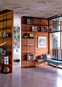 Like: metal and wood, full length, modular, home feel, colors. Don't like: too homy, need to integrate the office feel.