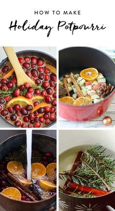 he scents of the holidays make us happy, and you can bring those same good vibes into your home anytime you want by whipping up an easy stove-top potpourri. Homemade Potpourri, Potpourri Recipes, Simmering Potpourri, Stove Top Potpourri, House Smell Good, House Smells, Christmas Scents, Homemade Christmas Gifts, Simple Christmas