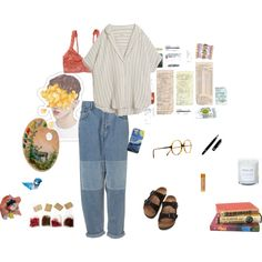 A fashion look from April 2016 featuring MASSCOB blouses, Hanky Panky bras i Birkenstock sandals. Browse and shop related looks.