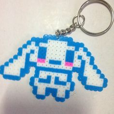 Cinnamoroll necklace perler beads by clothes_intrend