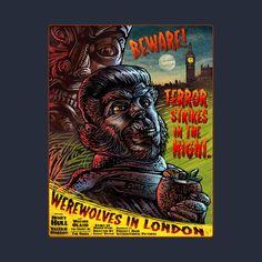ChetArt 'Werewolves In London' design on @TeePublic
