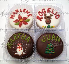 Hemos agregado nuevos diseños para esta Navidad. Tambien pueden pedir nuestros alfajores con nuestros diseños tradicionales. Recuerden hacer sus pedidos con tiempo a: info@bitsnbites.com.mx o al (81)8303-0062.