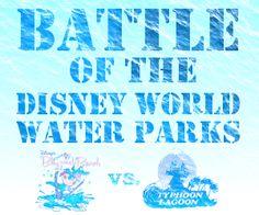 Blizzard Beach vs. Typhoon Lagoon: Battle of the Disney World water parks from @Shannon Bellanca Bellanca, WDW Prep School
