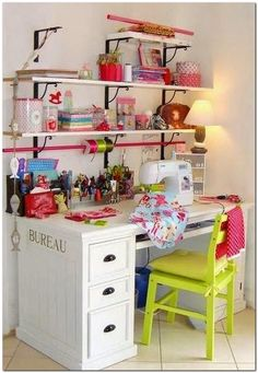 40 Best Small Craft Room and Sewing Room Design Ideas On a Budget 1 - DecoRequired - 40 Best Small Craft Room and Sewing Room Design Ideas On a Budget 53 – DecoRequired - Sewing Room Design, Craft Room Design, Craft Room Decor, Sewing Spaces, Craft Room Storage, Sewing Rooms, Home Decor, Small Craft Rooms, Sewing Room Organization