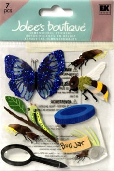 EK Success Jolee's Boutique Butterflies/Bugs/Jars Dimensional Scrapbook Stickers are available at Scrapbookfare.