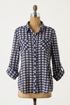 I think I'm the only person out there that doesn't own a gingham button up. This one is adorable.