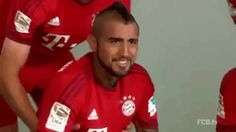 soccer bayern munich bayern fc bayern bundesliga thomas muller arturo vidal cop a feel nipple pinch trending #GIF on #Giphy via #IFTTT http://gph.is/2cCdD2C