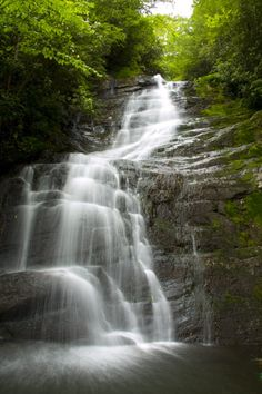 Red Fork Falls in Unicoi, TN near Erwin. Red Fork Falls in Unicoi County, is not too far from Beauty Spot on Unaka Mtn.