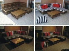 Pallet furniture- perfect for lounging and playing video games or extra guests