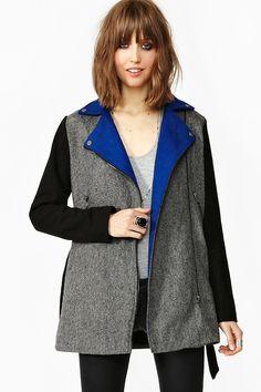 Colorblock Wool Coat