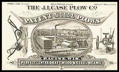Trade card -- J. I. Case Plow Company   Sheaff : ephemera