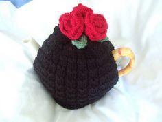 black roses tea cosy by TRULYSCRUMPTIOUS2009, via Flickr