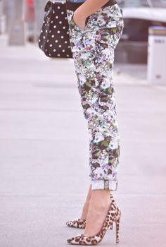 Mixing Prints   #floral #fashion