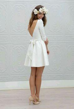 Vestido Blanco corto sin espalda