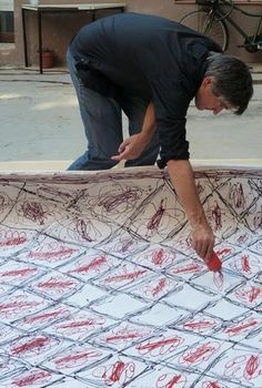 Painted Rug by Martí Guixé for Nanimarquina