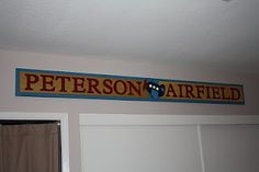 airplane room - personalized sign