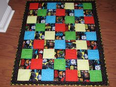 Star Wars Quilt in Original Theme Fabric Baby Quilt Play Quilt with Cute Primary Colors in a Perfect Take Along Size - Made to Order Only on Etsy, $60.00
