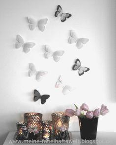 Frühling - ganz einfach Schmetterlinge aus Tonpapier basteln Meine fabelhafte Welt