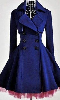 Long sleeve, double breasted jacket with tulle lining on Apostolic Clothing