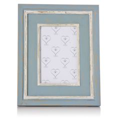 Gorgeous duck egg blue coloured photo frame. The shabby chic wash and duck egg blue colour mean it's perfect for a county home. Find more country home ideas at www.orchardlayne.co.uk
