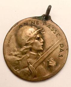 WWI Medal Battle Of Verdun On Ne Passé Pas 1916 21 Fevrier Coin Token   | eBay
