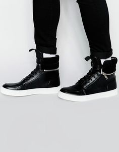 ASOS Hi-Top Trainers With Zip Cuff saved by #ShoppingIS