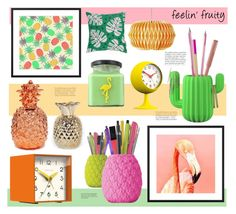 """feelin' fruity"" by redcandyuk ❤ liked on Polyvore featuring interior, interiors, interior design, home, home decor, interior decorating, Anja and Newgate"