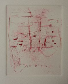 Ana Zanic, drypoint print